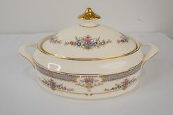 Minton Persian Rose Covered Vegetable Serving Bowl And Lid Gold Free Usa Shipping