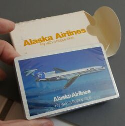 Vtg Alaska Airlines Alaskana Playing Cards Sealed Deck Fly With A Happy Face