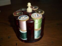 Vintage 1930's-1940's Bakelite Roulette Sewing Thread-small Chip Holder