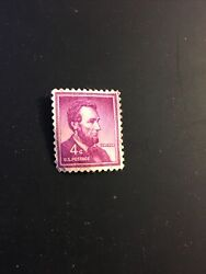 Rare Abraham Lincoln Liberty Issue Red Violet 4c Stamp Uncirculated Unused - Usa