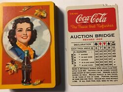 """Coca Cola—vintage Playing Cards—-dated April 1, 1943–""""""""great Gift"""""""""""