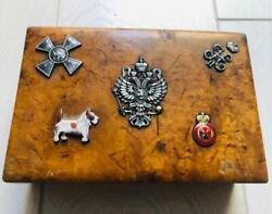 Imperial Russian Faberge Award Jewelled Karelian Birch Wood Cigar Case C1890and039s