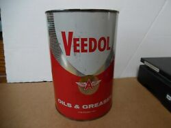3 Veedol 5 Grease Tin Can Flying A Tide Water Oil Co Gas Station Man Cave