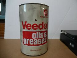 4 Veedol 5 Grease Tin Can Flying A Tide Water Oil Co Gas Station Man Cave