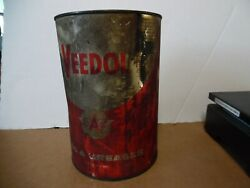 6 Veedol 5 Grease Tin Can Flying A Tide Water Oil Co Gas Station Man Cave