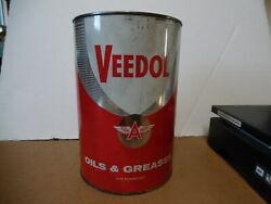 7 Veedol 5 Grease Tin Can Flying A Tide Water Oil Co Gas Station Man Cave