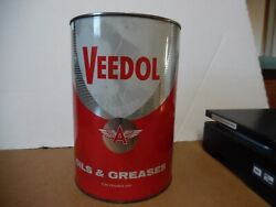8 Veedol 5 Grease Tin Can Flying A Tide Water Oil Co Gas Station Man Cave