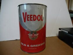 9 Veedol 5 Grease Tin Can Flying A Tide Water Oil Co Gas Station Man Cave