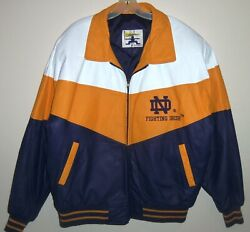 New Vintage 80's Notre Dame Fightin' Irish Excelled Leather Jacket Xl Rare