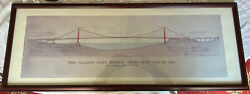 Golden Gate Bridge By John A. Roebling Civil Engineer Architecture Drawing 40x16