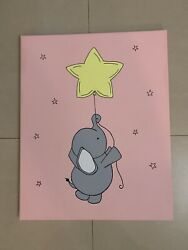 Baby Elephant Star Hand Painted Art Canvas 16andrdquox20andrdquoacrylic Painting Baby Room