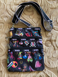 LeSportsac Kasey Crossbody Girls Unicorns Birds Hearts Cats EXCELLENT CONDITION $10.99