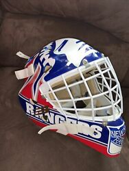 Mike Richter Ny Rangers Vintage 1990andrsquos Full Size Goalie Mask Authentic Liberty