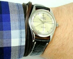 Rare Universal Geneve Polerouter 215 First Microtor 1958 Original Dial Serviced