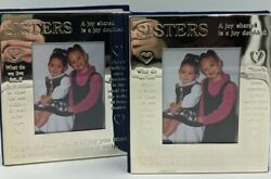 2 - International Silver Company Sisters Photo Albums Books Hold 100 4x6 Photos