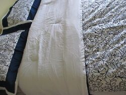 Samantha Brown Blue And White 6 Pc Floral Print Cal King Comforter Set - New