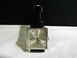 Longines 14k White Gold 1960's Diamond Dial Super Nice Cal. 428 Keeping Time