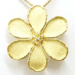 Jewelry 18k Yellow Gold Necklace Brooch Diamond About11.1g Free Shipping Used
