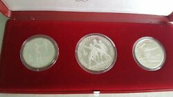 Moscow 1980 Summer Olympic Games Silver Coin Set 5 And10 Roubles Ussr Cccp