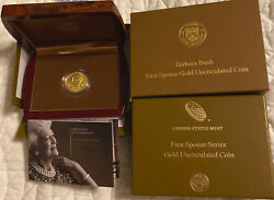 Barbara Bush 2020 First Spouse Gold Uncirculated Coin U.s.mint Rare Low Mintage
