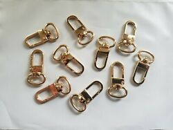 1000 X Luggage Tag Swivel Hook For Louis Vuitton Bag Charm Name Tag Clasp Gold