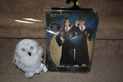 Harry Potter Gryffindor Robe S/m, Gryffindor Scarf And Plush Hedwig Costume Clip