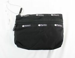 LeSportsac Women#x27;s Taylor 2 Zip Small Cosmetic Case OS6 Black Core $14.99