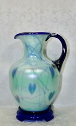 Fenton, Pitcher, Willow Green Glass, Dave Fetty, Connoisseur Collection 2003.