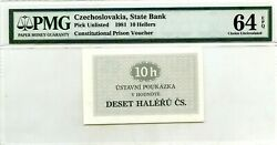 Czechoslovakia State Bank 10 Hellers 1981 Pick Unlisted Prison Voucher 500
