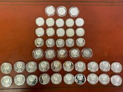 Lot 43 Olympic Silver Coins 1980 Russia 20-10 Rubles And 23-5 Rubles