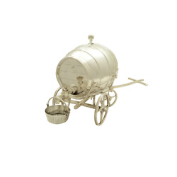 Antique Victorian Silver Plated Spirit / Whisky Barrel 1863