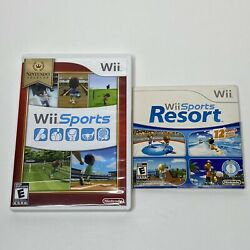 Wii Sports And Wii Sports Resort 2 Games Complete Nintendo Wii Console Bundle