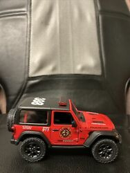 Jeep Rubicon Officially Licensed Die Cast Vehicle Firefighter Fire Dept. 1/34