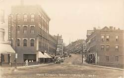 Brattleboro Vt Main St Stores Coca Cola And Other Signs Real Photo Pc 1907-20