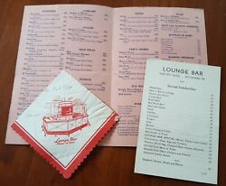 Fort Pitt Hotel Pittsburgh Beverage And Lounge Bar Menu + Extras 1937