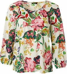 Cure Apparel Womens Floral Long Sleeve Knit Tunic
