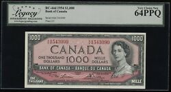 1954 Bank Of Canada 1000 Banknote - Legacy Very Choice New 64 Ppq Bc-44d