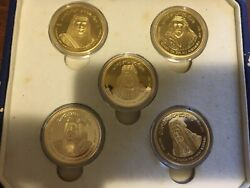 2004 Commemorative Medals And Coins Of The Great Bahrain Rulers Limited Issue 500