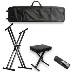 On-stage Kpk2088 Double-x Keyboard Bundle With Bag, Stand, Bench, And Pedal