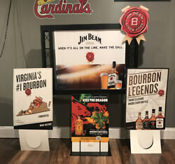 Jim Beam Bourbon Whiskey Bar Store Advertising Double Sided Display