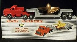 Dinky Toys No 986 Mighty Antar Low Loader With Propeller In Original Box C1950s