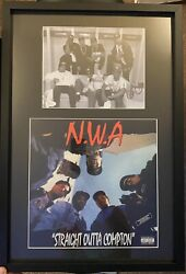 Rare Dr Dre Autographed Nwa With Album Cover Matted Frame Jsa Authenticated Coa