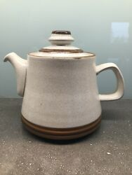 Denby Potterand039s Wheel Rust Red 7.25 Teapot/ Coffee Pot W/ Lid- Great Condition