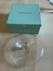 Elsa Peretti And Co Murano Glass Clear Candy Nut Dish Server Apple Jar Lid