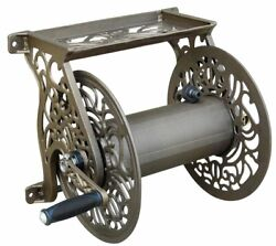 Aluminum Wall Mount Garden 125ft Hose Reel Antique Non Rust Sturdy Tool Easy Use