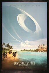 Star Wars Rogue One Double Sided Original Authentic Movie Poster Beach Variant