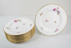 Le Tallec France Private Stock Flower Dinner Plates Set Of 16 - 10 1/2