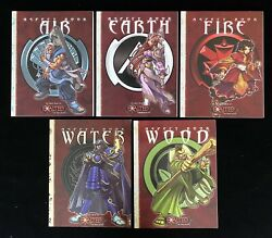 5 Aspect Books For Exalted Air/earth/fire/water/wood Sc White Wolf Like New