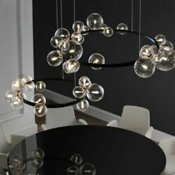 Chandelier Lighting Ceiling Fixtures Modern Round Hanging Lamp Clear Glass Balls