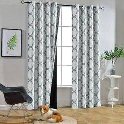 Melodieux Moroccan 100 Blackout Curtains For Bedroom 84 Inches Long Living Roo